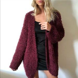Kensie fizzy cardigan (burgundy)